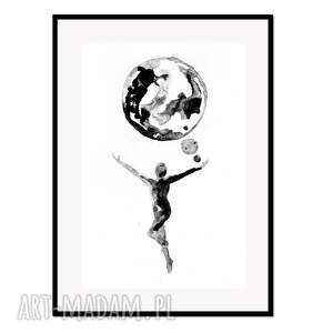 liquid mind 2, plakat autorski 50/70 cm, plakat, autorski, grafika, minimalizm