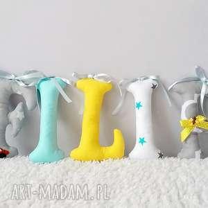 mięciutka literka z bawełny, literka, bawełna, drukowana, poduszeczka, maskotka