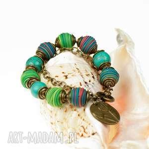 Letnia kolorowa bransoletka z howlitów c501, letnia-bransoletka, biżuteria-z-kamieni