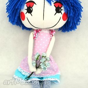 anolinka - ręcznie wykonana lalka z duszą - dziewczynka, przytulanka