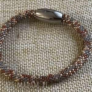 ręcznie wykonane bransoletka wielokolorowa z koralików toho