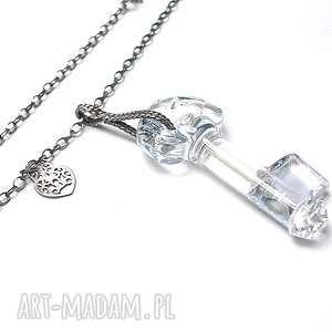 oryginalny prezent, blue key vol 2 -naszyjnik, srebro, oksydowane, klucz