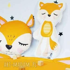 maskotki komplet poduszek rude liski, maskotki, prezent dla dziecka, poduszka