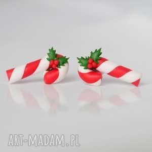 prezenty świąteczne Lizaki Laski - piękne kolczyki wkręty na Boże Narodzenie, lizaki