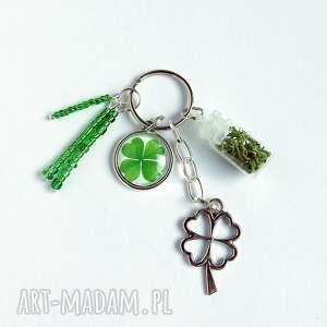 Breloczek - koniczynka, mech breloki liliarts breloczek, klucze