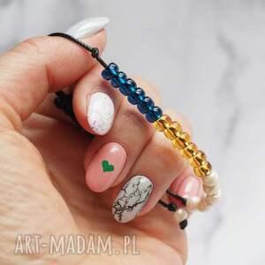 regulowana koralikowa bransoletka, minimalistyczna biżuteria