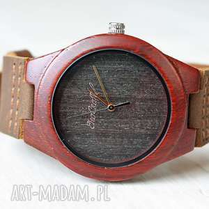Damski drewniany zegarek BULLFINCH , drewniany, ekologiczny, wygodny, zegarek, lekki,