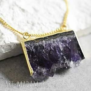 ♥Ametyst♥ Pozłacany naszynik, ametyst, natura, pozłacany, vintage, kamień, złoto