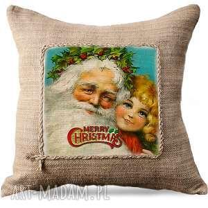 poduszka świąteczna bożonarodzeniowa, Święty mikołaj, boże narodzenie