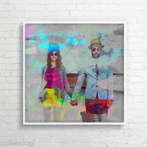 obrazy obraz na płótnie colorlove 100x100 cm, love, obraz, nowoczesny, płótno