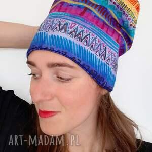 święta, czapka no 11, boho, hippi, flower power, bawełniana czapka, eco wear