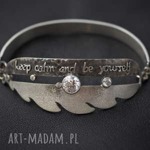 pod choinkę prezent, bransoleta be yourself, pióra, bransoleta, srebro, prezent
