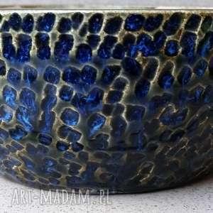 gliniakimacieja misa błękitno-brązowa, ceramika, misa, glina, rękodzieło, dekoracje