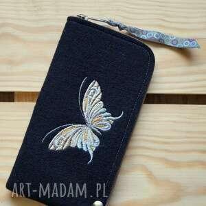 filcowe etui na telefon - motylek, smartfon, pokrowiec, futerał, motyl, prezent