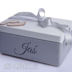 Pudełko na pamiątkę narodziny chrzest pokoik dziecka koloryziemi