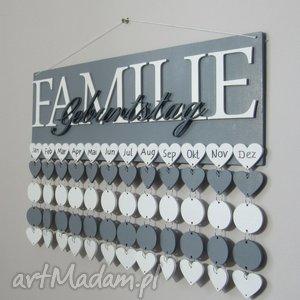 Prezent Kalendarz rodzinny, kalendarz urodzin, dowolna kolorystyka i napisy