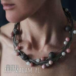 druisy wire branch - elegancka, pastelowe, agat, opal-peruwiański, prezent-dla-niej
