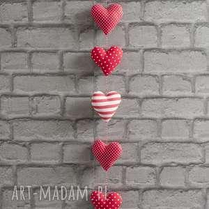 ręcznie wykonane dekoracje czerwona zawieszka serca