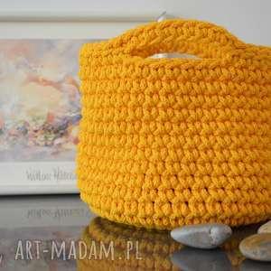 kosze dla pani basi - 2 szt żółty i grafitowy, kosz, sznurek bawełniany