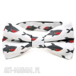 mucha shark - krawat, szelki, ślub, choinka, święta, prezent