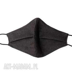 maseczki modna jeansowa maska ochronna grafitowa bawełna, medyczna, jeans