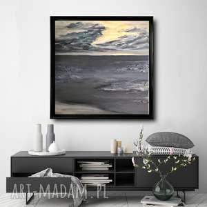 - złoty zachód, abstrakcja, nowoczesny, farby akrylowe, obraz abstrakcyjny