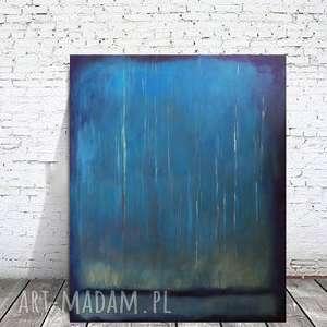 niebieski las nocą - obraz akrylowy formatu 50/60