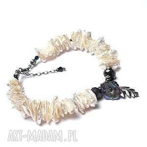 wyjątkowy prezent, pearls sapphires vol 5, srebro oksydowane, perły keishi