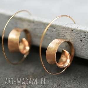 925 różowo pozłacane kolczyki spiralne brunei ii, złoto