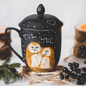 kubki sowy kubek z pokrywką i zaparzaczem idealny do herbaty, sowa