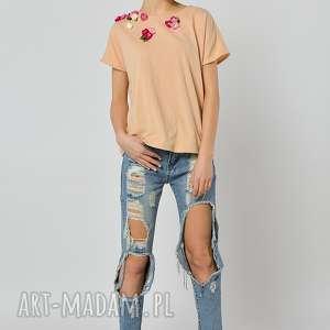 dzika różna - bluzka, jersey, kwiaty, handmade ubrania