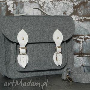 filcowa torba na laptopa ze skórzanym wykończeniem 15, torba, laptop, 15