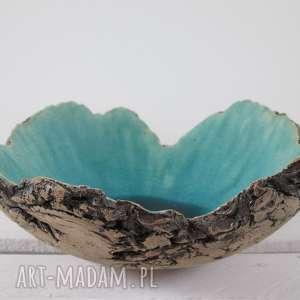 artystyczna miska Sardynia, dekoracyjna, misa, ceramiczna, jak-skała, turkusowa