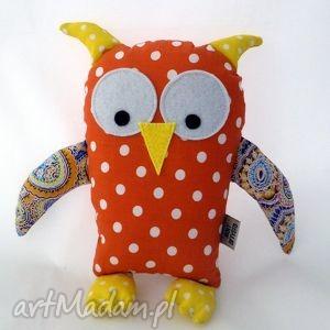 maskotki sówka rudo- żółta, sowa, handmade dla dziecka