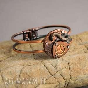 Prezent Steampunkowa bransoletka, steampunk, naprezent, fimo, dlaniej