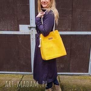 torebka zółta jagoda cytrynowa - pojemna torebka, prezent, bawełna, na wakacje