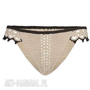 majtki alice koronkowe, majtki, panties, lingerie, bielizna, beżowe