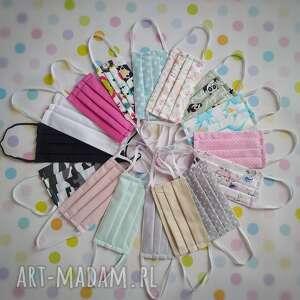 maseczki bawełniane zestaw 5 sztuk, maseczki, maski, kolorowe, pakiet