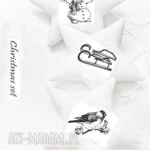 dekoracje ch\ristmas set - gwiazdki na choinkę, święta, choinka, gwiazdki, gwiazdka