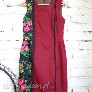 klasyczna sukienka folk design aneta larysa knap, ubrania