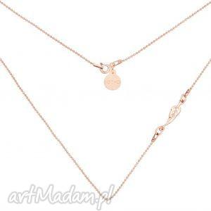 ręczne wykonanie naszyjniki naszyjnik z różowego złota piórkiem