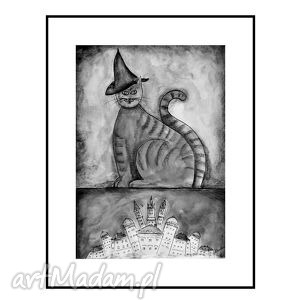 Kot Magik, plakat ok 40/60 cm, kot, koty, plakat, obraz, dekoracja