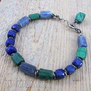 handmade lapis lazuli z malachitem i kyanitem - surowa