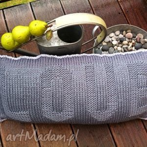 poduszki poduszka grey love, handmade, retro, glamour, wnętrza dom