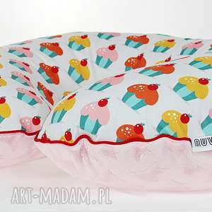 pokoik dziecka poszewka na poduszkę rogal boppy muffinki, poduszka, poszewka