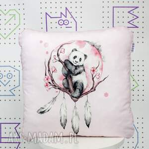 poduszka panda boho 46x46, podszka, jasiek, ozdobna