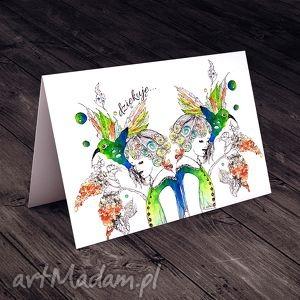 KARTECZKA DLA MAMY..., kartki, mama, życzenia, okolicznościowe, koliber, imieniny