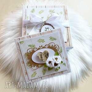 kartka na ślub lub rocznicę - w pudełku - beżowe, rocznica