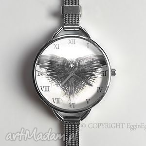 Gra o tron - Zegarek dużą tarczką 0919WS, gra, tron, zegarek, kruk, grafiką, thrones
