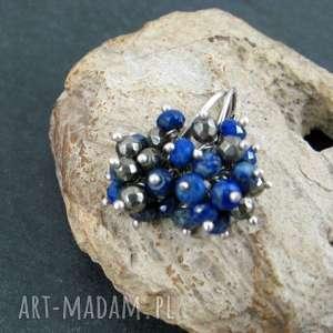 lapis lazuli i piryt mini grona, lapis, lazuli, piryt, gronka